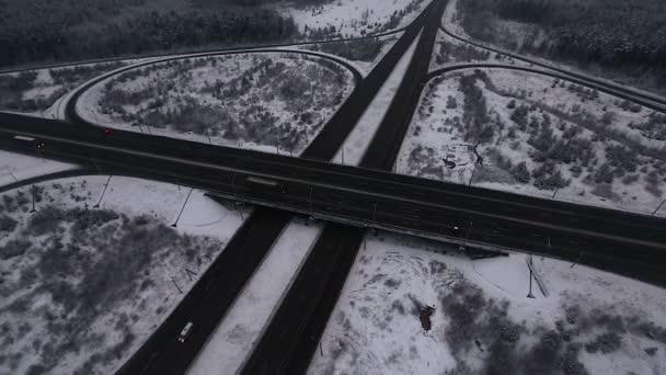 Silniční jinction v zimě