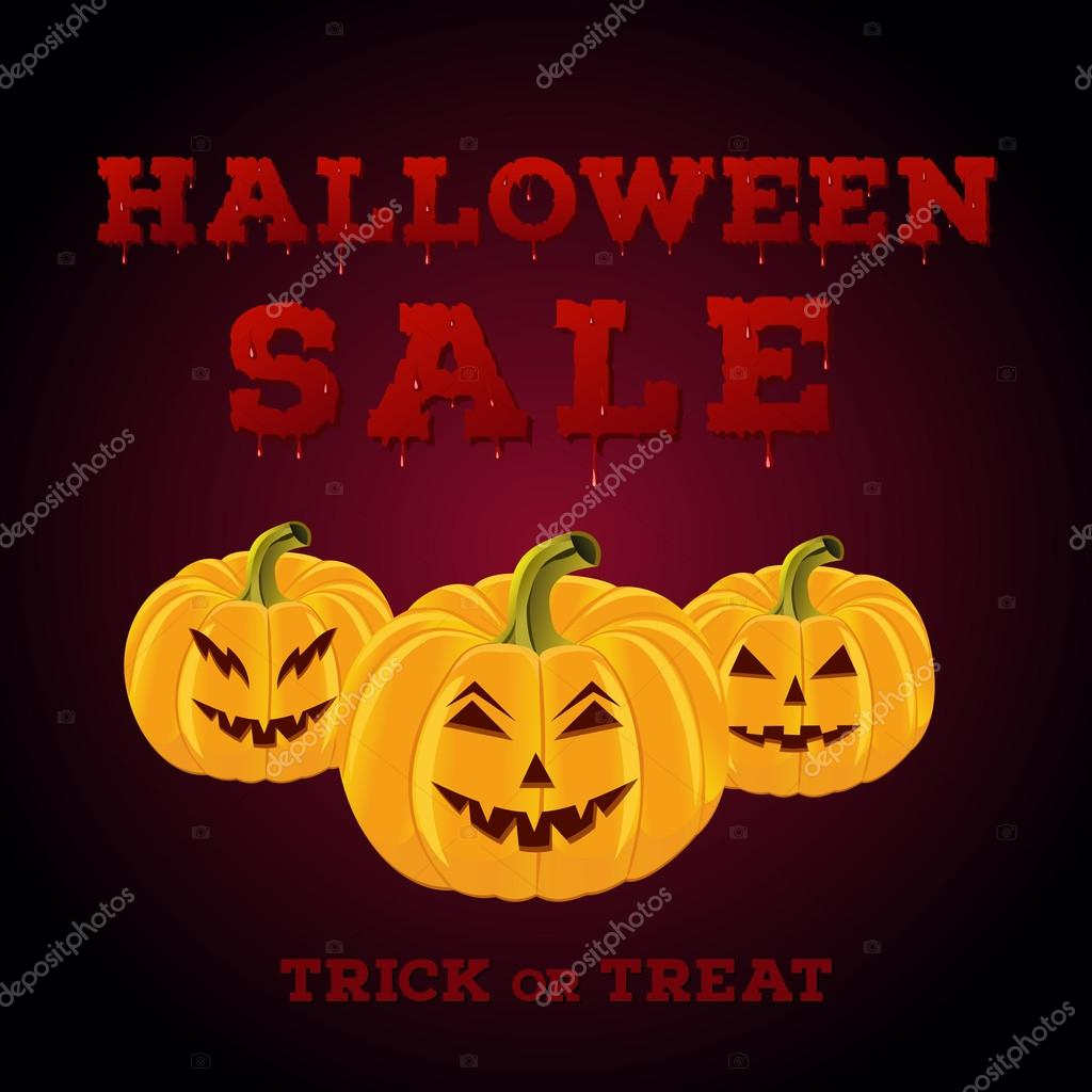 Design of the flyer with halloween sale inscription on white ...