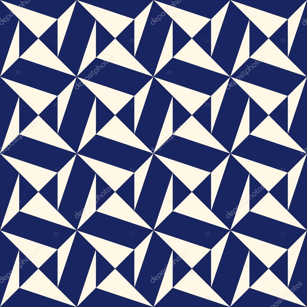 Seamless Pattern With Symmetric Geometric Ornament