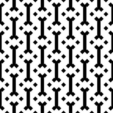 Seamless pattern. Forms, rhombuses motif. Folk image. Figures, checks ornament. Shapes, diamonds wallpaper. Mosaics background. Simple shapes backdrop. Web design, textile print, abstract. Vector art. icon