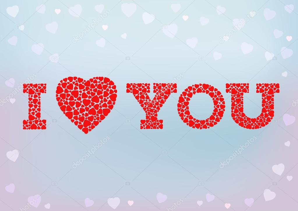 I Love You Inscription With Heart Symbol Stockvector Funkyplayer
