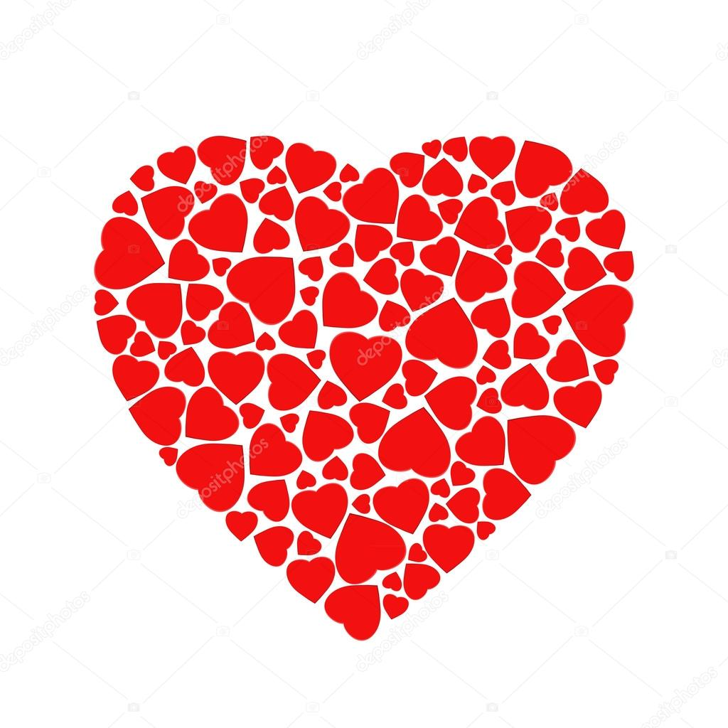 c ur rouge stylis compos de formes de petit coeur image vectorielle funkyplayer 99054782. Black Bedroom Furniture Sets. Home Design Ideas