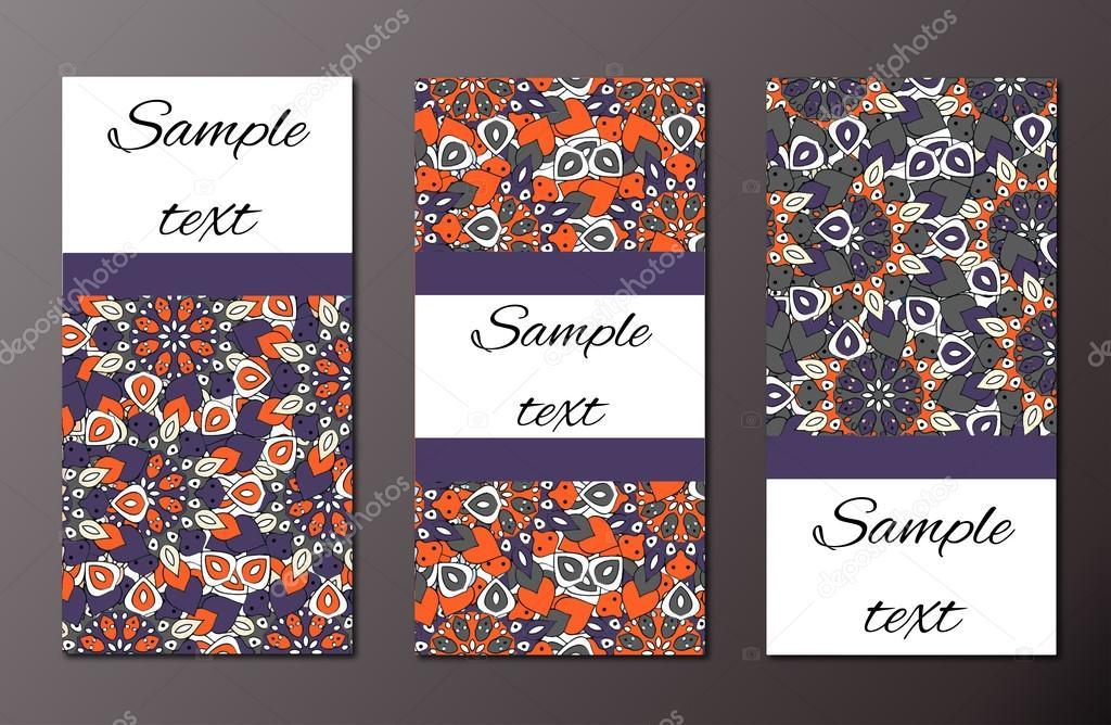 Un Ensemble De Modeles Demballage Cartes Postales Flyers Visite Affiches Invitations Vecteur Par Nastasyia0111gmail