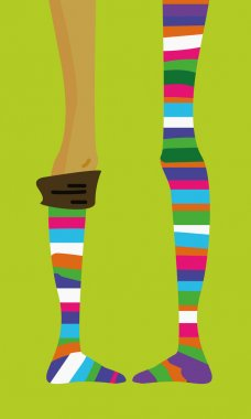 Striped color stocking