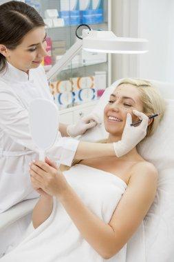Happy female patient