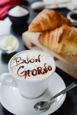 Breakfast cappuccino design - Buongiorno