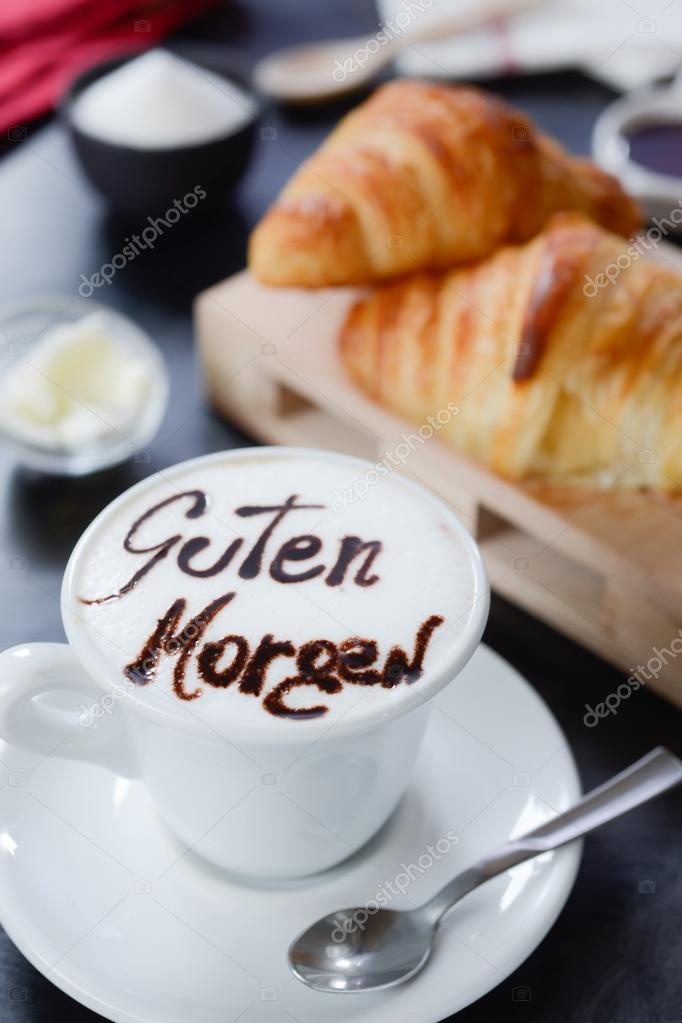 Guten Morgen Cappuccino Breakfast Cappuccino Design