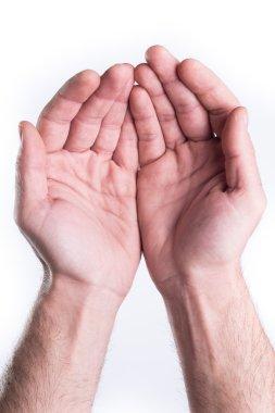 Hand plead charity