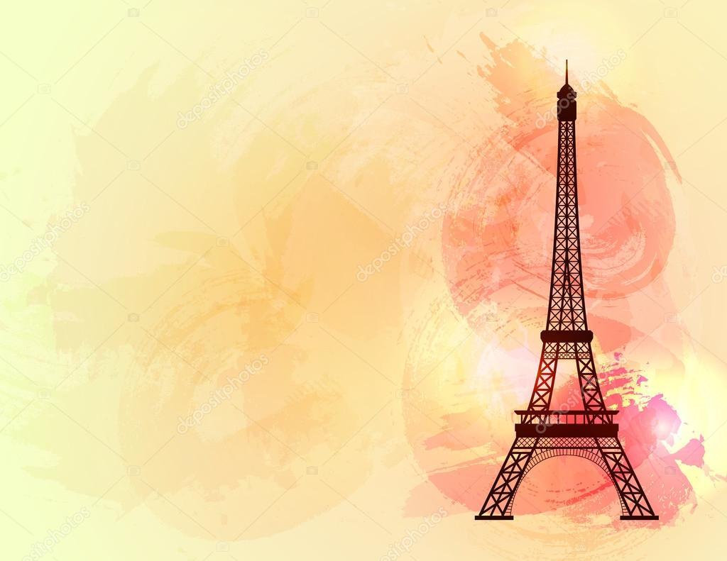 Torre Eiffel En Colores De Fondo