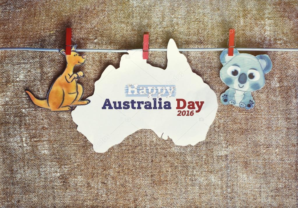 открытка день австралии же