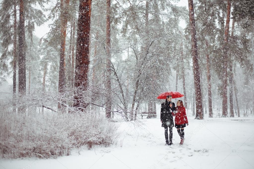 Winter Love Story In Red Stock Photo Ravenofdeath96gmailcom