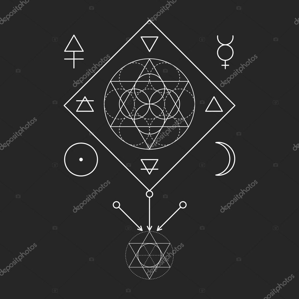 43d69fa0d6 Symbol of alchemy and sacred geometry. Three primes: spirit, soul ...