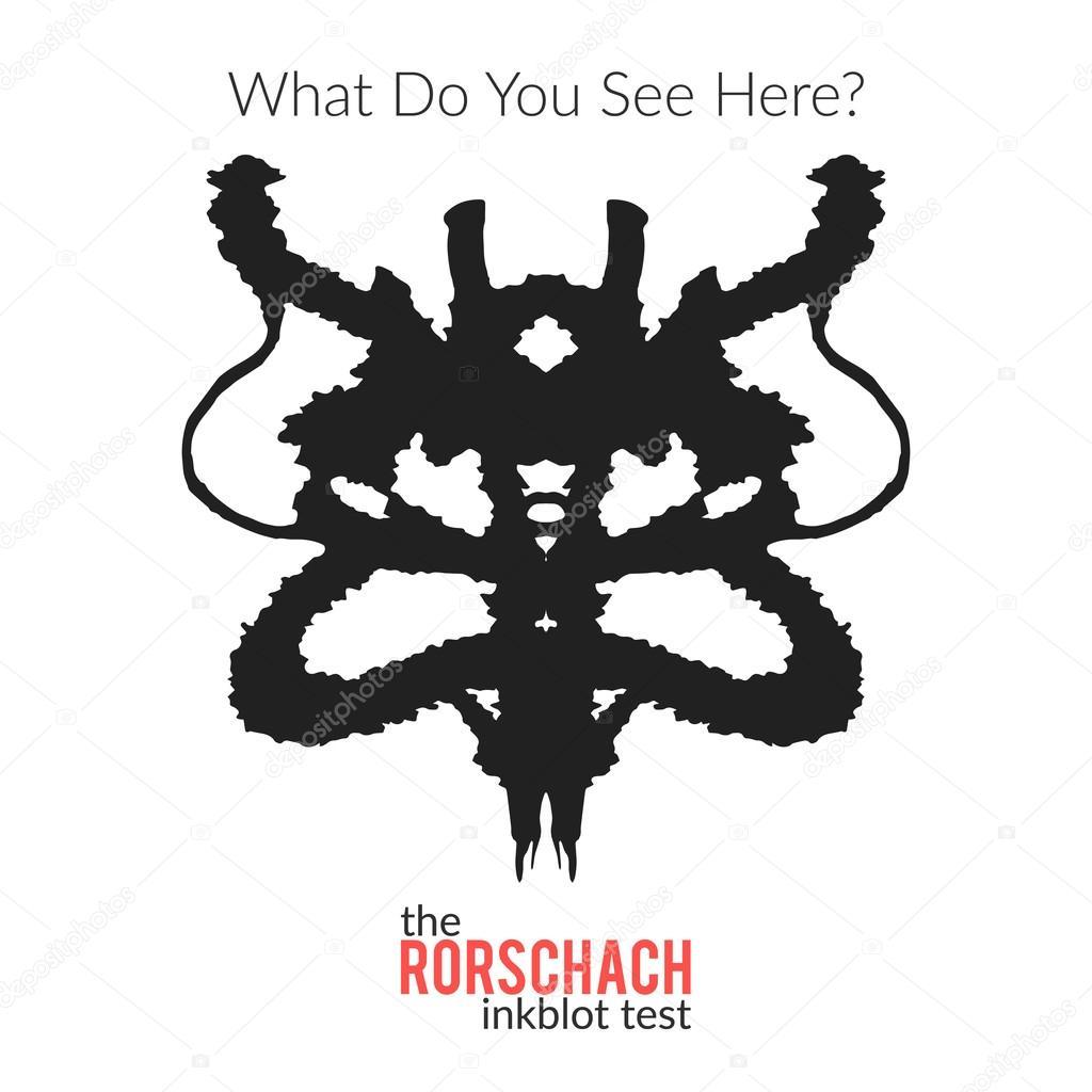 Rorschach v test inkblot vektorov izolovan varianta pro psychologick test pro psychology - Psicologia tavole di rorschach ...