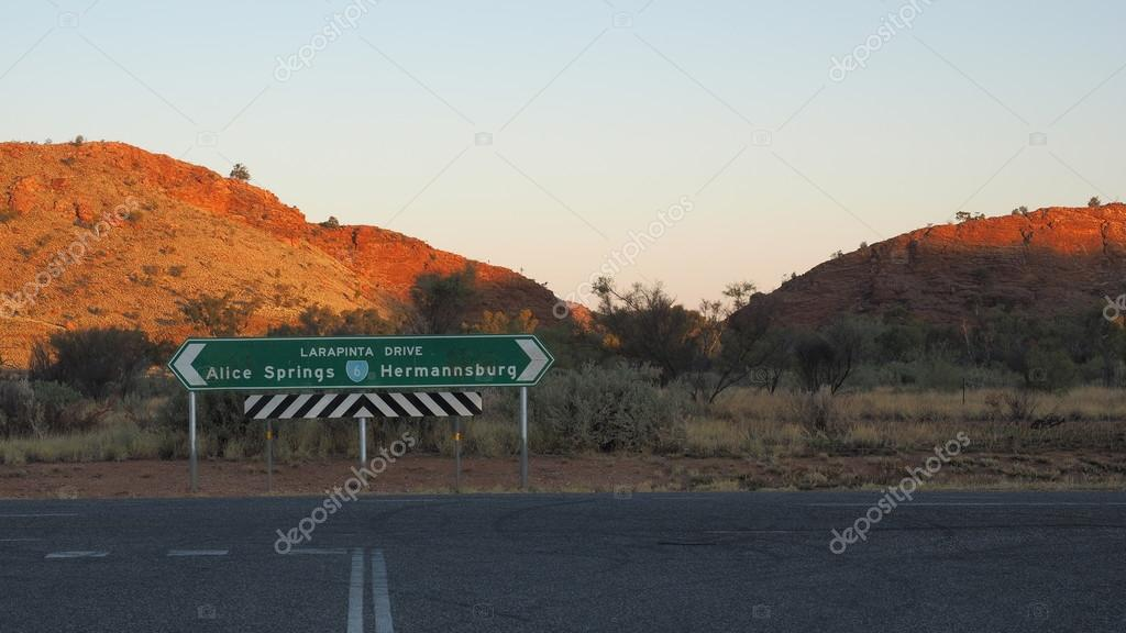 Larapinta Drive Way Sign