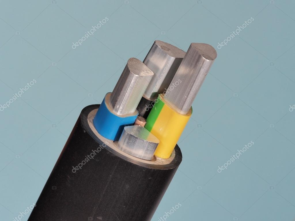 Medium voltage 1kV Aluminum sector cable end with stripped conductors