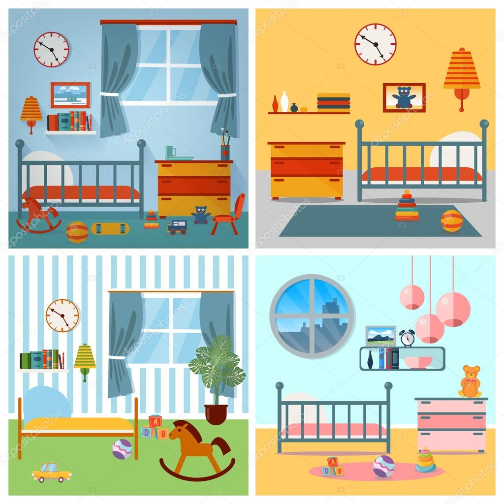 Image of: Children Bedroom Interior Child Furniture And Toys Vector Illustration Stock Vector C Vectorlab 107998472