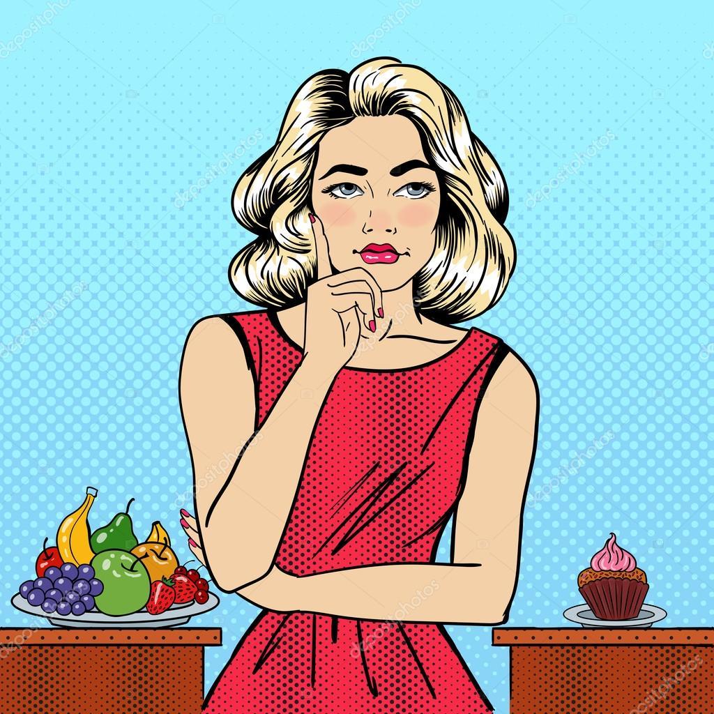 תוצאת תמונה עבור illustration woman with food