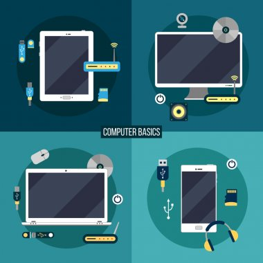 Computer and Electronic Basics: Laptop, Computer, Smart Phone, Tablet
