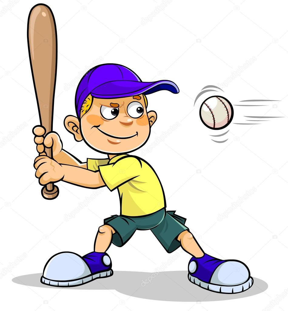 cartoon boy playing baseball stock vector shambulin ya ru 95352016 rh depositphotos com Baseball Glove Vector Baseball Silhouette Vector