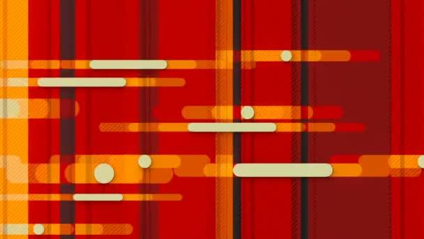 Hurok animáció egy geometriai minta felett színes vonalak. 3d renderelés HD