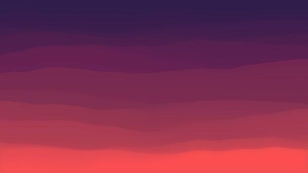 Colored wavy background. 3d rendering loop animation. Simple modern design 4K