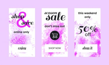 Shop and Save Web Banners Set