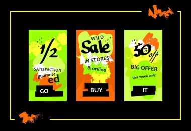 Wild Sale Web Banners Set