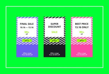 Final Sale Web Banners Set