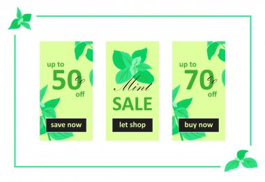 Mint Sale Web Banners Set