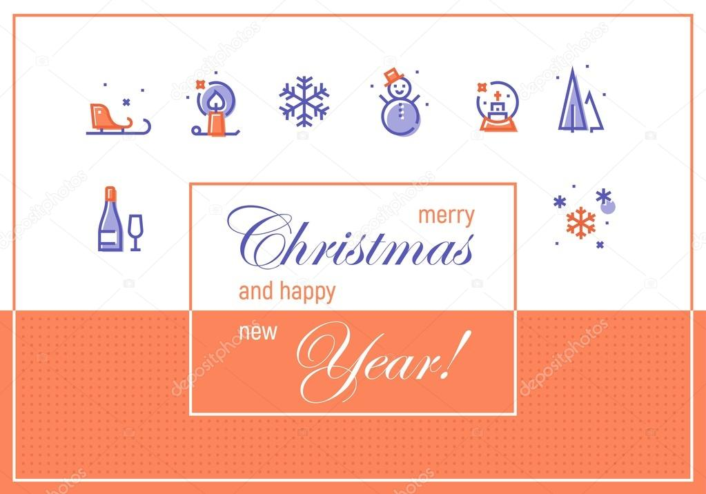 Merry christmas and happy new year greeting cards template stock merry christmas and happy new year greeting cards template stock vector m4hsunfo