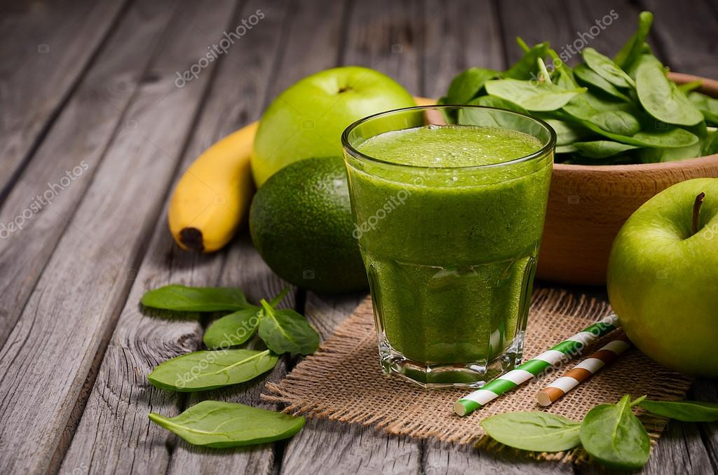 smoothie avokado banan spenat