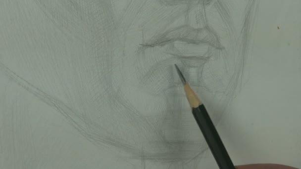 Kresleni Studie Mladych Modelu Brada A Rty S Grafitovou Tuzkou