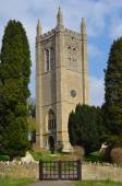 Photo All Saints church tower Odell Bedfordshire,