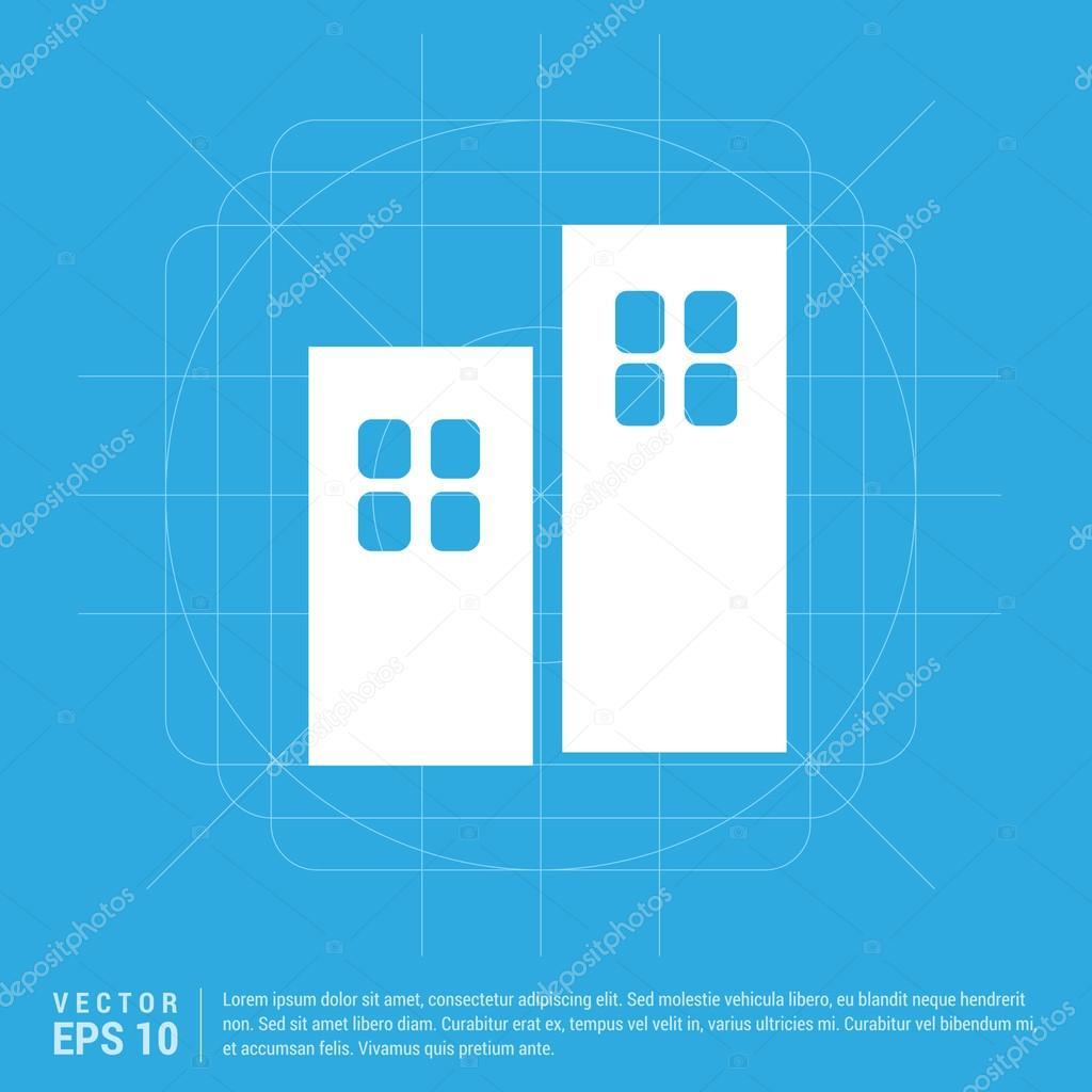 icona di due porte interne — Vettoriali Stock © ibrandify #103895580