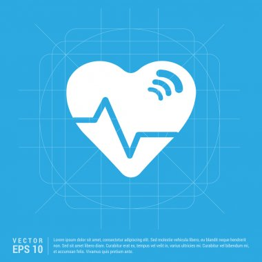 Heart ecg icon.Vector illustration. Flat icon design style stock vector