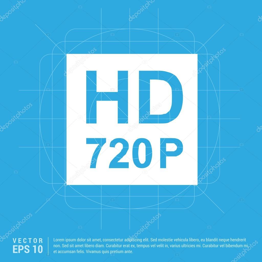 HD 720 p Zeichen Symbol — Stockvektor © ibrandify #103933726