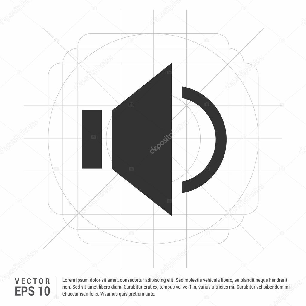 Volume-Symbol. Lautsprecher-Symbol — Stockvektor © ibrandify #106189256