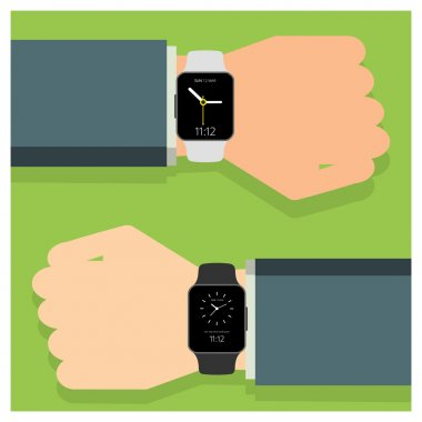 two smart watches icon