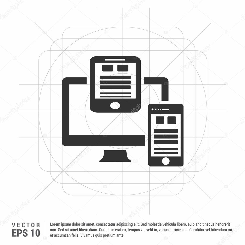 Elektronische Geräte-Symbol — Stockvektor © ibrandify #106225468