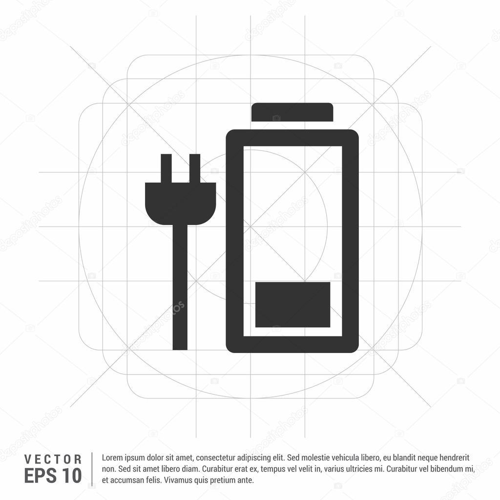 Laptop Akku Ladesymbol — Stockvektor © ibrandify #106262838