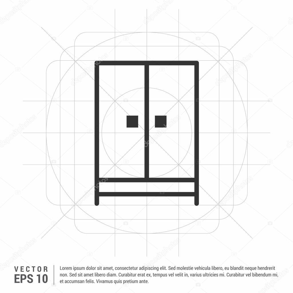 Icono de armario muebles vector de stock ibrandify for Stock de muebles