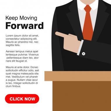 Keep Moving Forward illustration