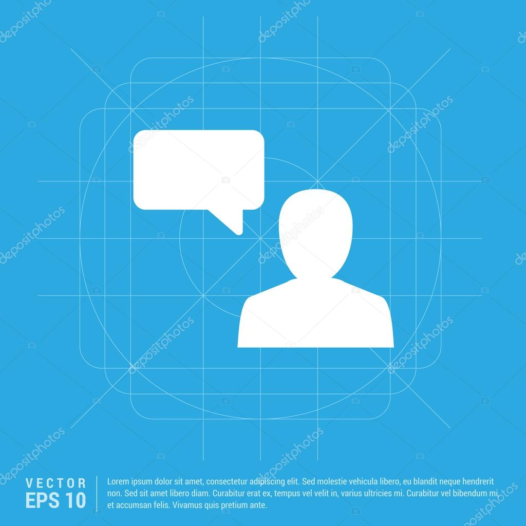 man and speech bubble icon