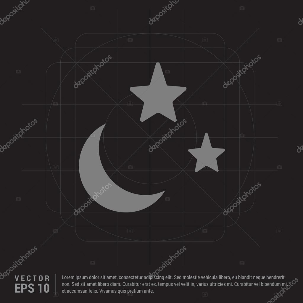Weather icon with moon and stars