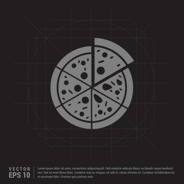 classic sliced pizza icon