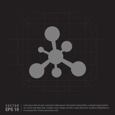 Web molecule icon