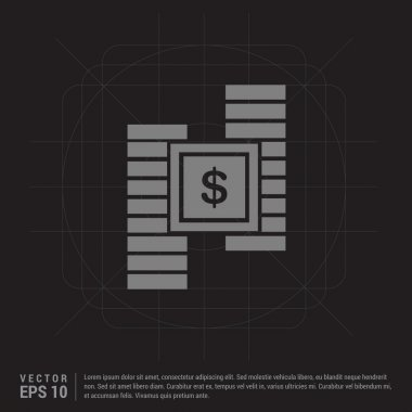 Dollar coins stacks Icon