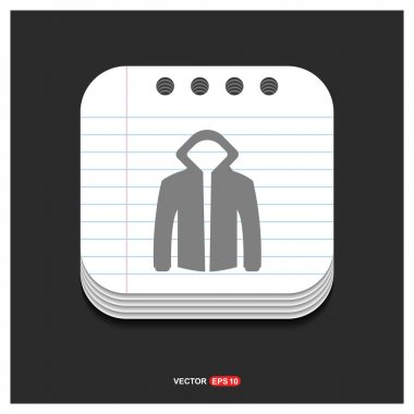 jacket with hood icon