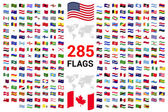 Photo set of 285 world Flags of sovereign states