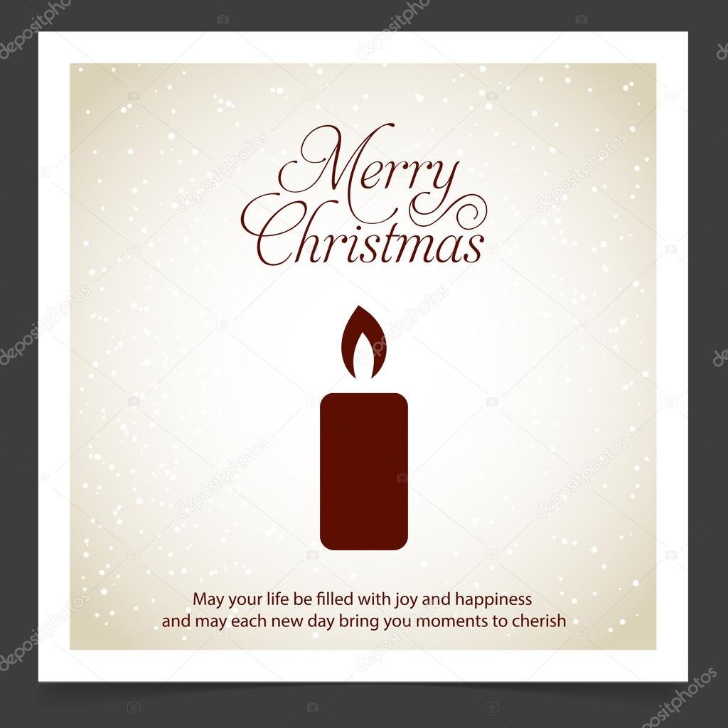 Gruß Weihnachtskarte mit Kerze — Stockvektor © ibrandify #92782258